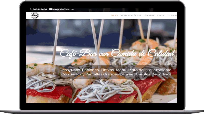 Diseño web: Cafe 7
