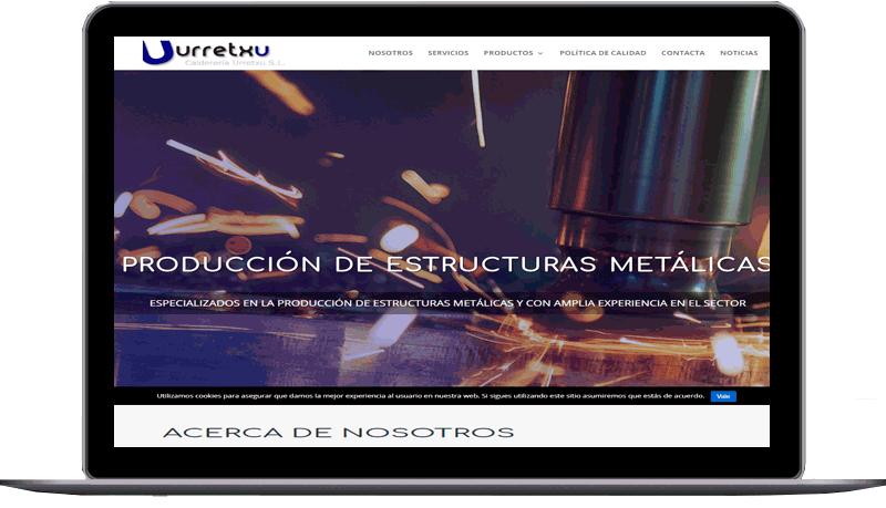 Diseño web: Calderería Urretxu