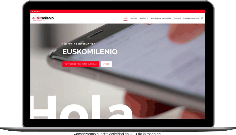 Diseño web: EuskoMilenio