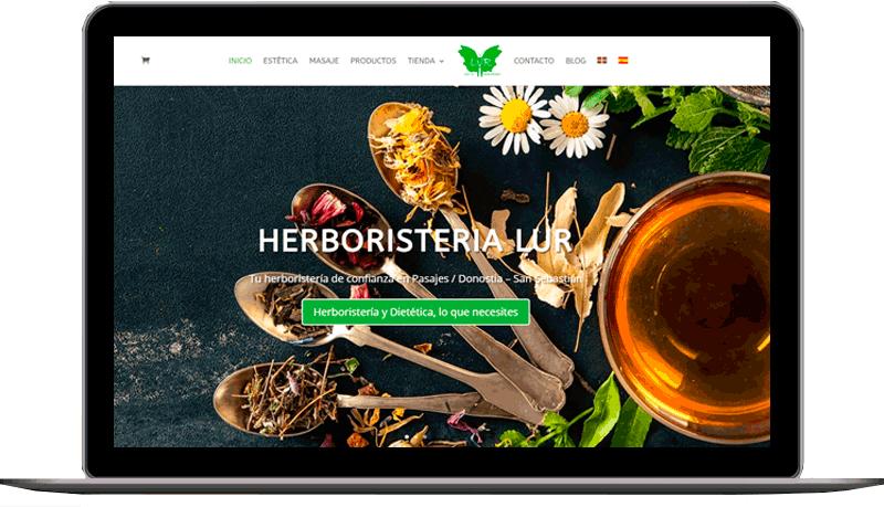 Diseño web: Herboristería Lur