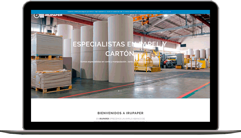 Diseño web: Irupaper