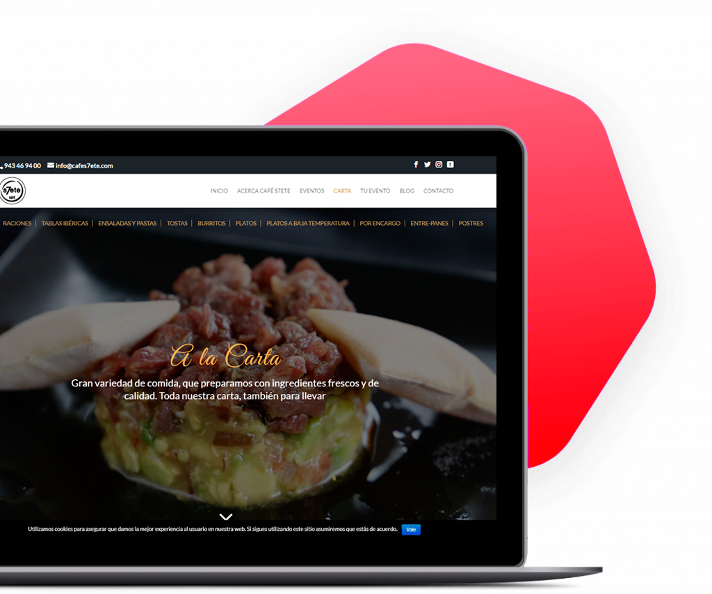 Diseño de webs, tiendas online, landings, marketing digital
