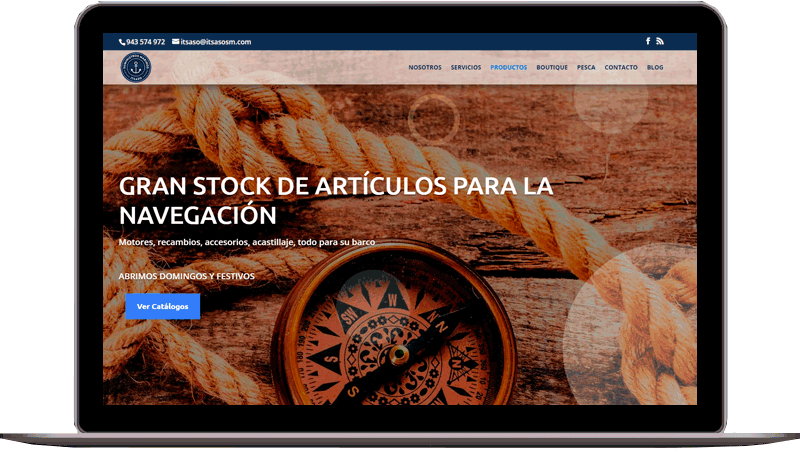 Diseño web: Suministros Marinos Itsaso