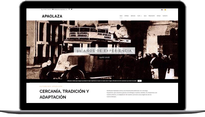 Diseño  web: Autobuses Apaolaza