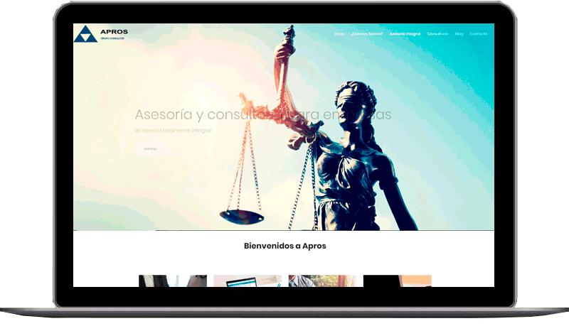Diseño de web: APROS