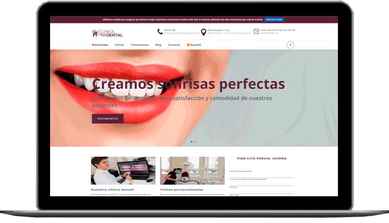 Diseño web: Clínica Dental - Donostia