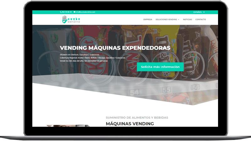 Diseño web: Euzko Bendina