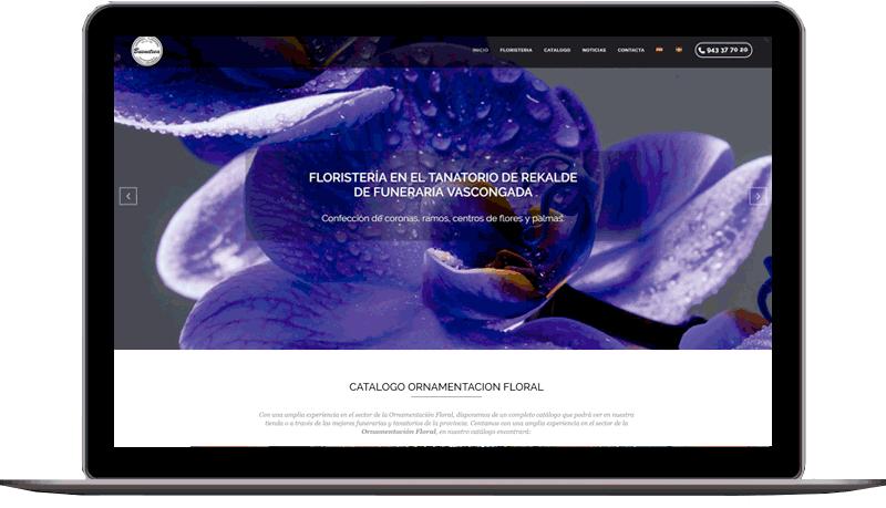 Diseño web: Floristería Buenetxea