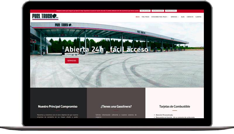 Diseño web: Fuel Truck