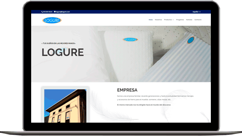 Diseño web: Logure