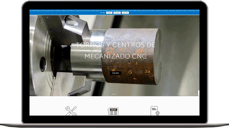 Diseño web: Mecanizados Mather