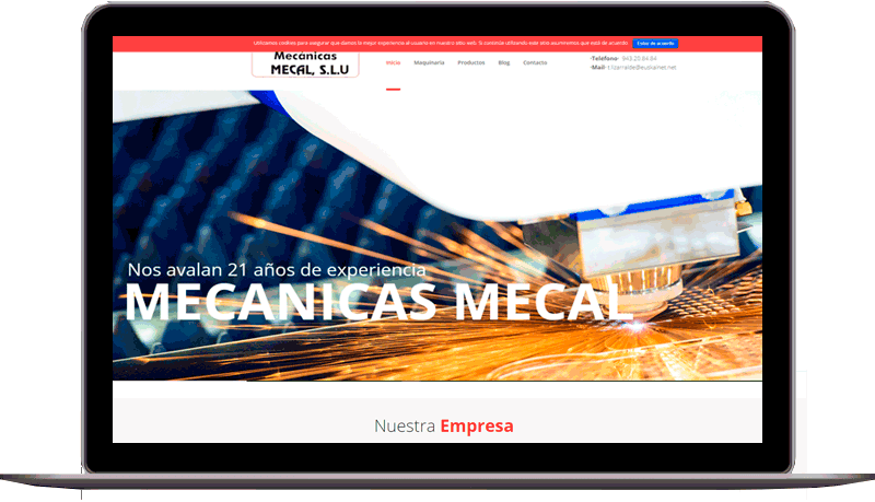 Diseño web: Mecánicas Mecal