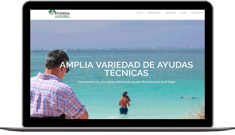 Diseño web: Ortopedia Jaizkibel