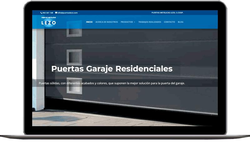 Diseño web: Puertas Lezo