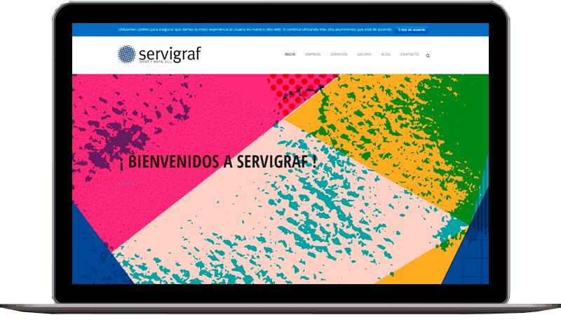 Diseño web: Servigraf