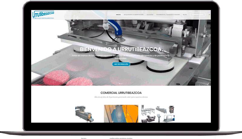 Diseño web: Urrutibezcoa
