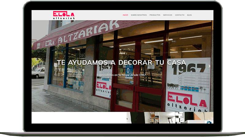 Diseño web: Elola Altzariak