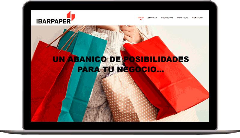 Diseño web: Ibarpaper
