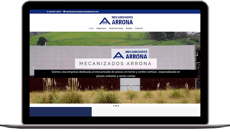 Diseño web: Mecanizados Arrona