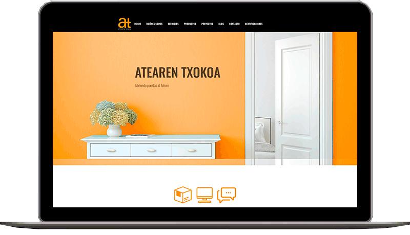 Diseño de web: Atearen Txokoa