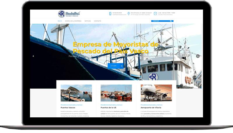 Diseño web: Pescados Rodolfo