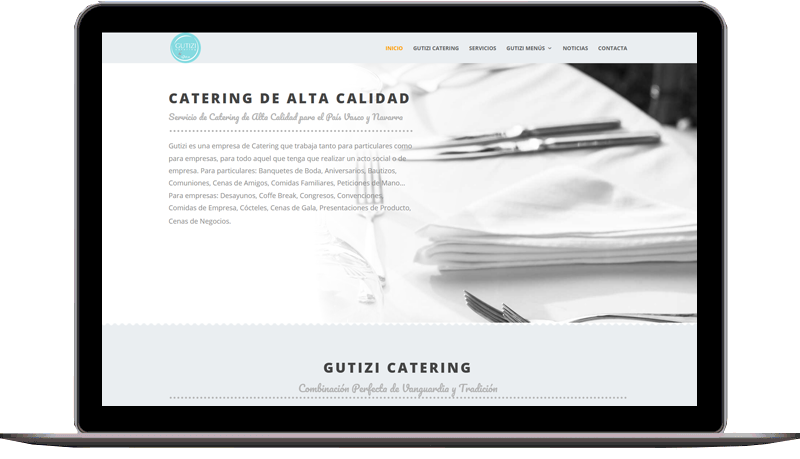 Diseño web: Gutizi Catering