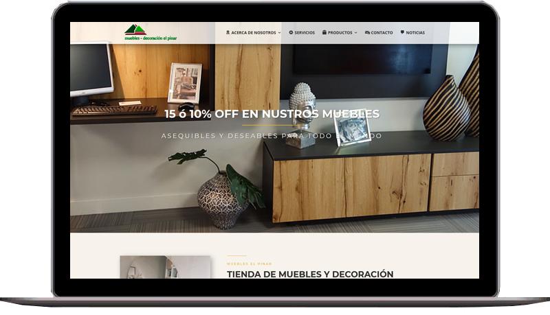 Diseño web: Muebles El Pinar