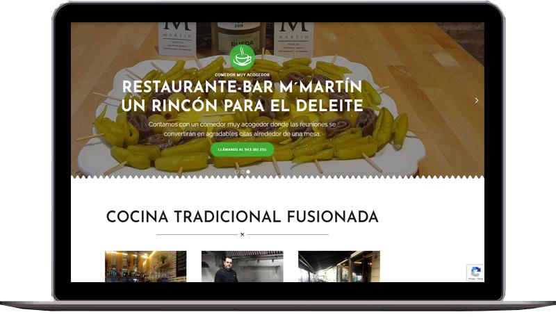 Diseño web: Restaurante-Bar M´Martín